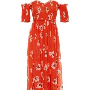 Dresses & Skirts - Tilden Floral Off The Shoulder Smocked Midi Dress